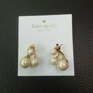 kate spade pearl stud earrings nwot